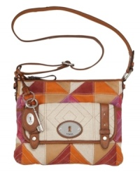 Add some color to your day with this pretty patchwork style from Fossil. The perfect fashionably functional addition to your handbag collection.