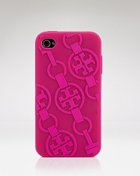 Get dialed in with this soft plastic iPhone case in a signature Tory Burch motif. It is an instant tech upgrade.