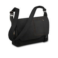 This Briggs & Riley messenger bag is perfect for work or weekend errands. A removable, padded computer sleeve with a hook/flap closure provides extra protection for laptops up to 15.4. The padded vertical pockets hold a cell phone, PDA or MP3 player. The front organizer with dual-zipper access features pockets for pens, business cards, a flash stick and more. Large slip pockets fit letter and legal size file folders.