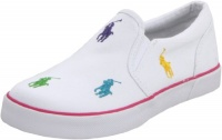 Polo by Ralph Lauren Bal Harbour Repeat Sneaker (Toddler/Little Kid/Big Kid),White/Multi,3.5 M US Big Kid