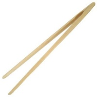 Bamboo Wood Toast Tongs - 12 Inch