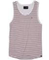 When the temperature rises, this striped tank from Hurley keeps you going strong.