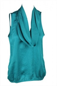 MICHAEL Michael Kors Womens Sleeveless Cowlneck Top