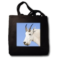 Mountain Goat Billy, Logan Pass, Glacier NP, Montana - US27 CHA1102 - Chuck Haney - Black Tote Bag JUMBO 20w X 15h X 5d