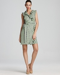 kate spade new york Aubrey Patio Check Printed Wrap Dress