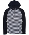 This hooded knit henley by Hurley is the perfect pullover for laid back looks.