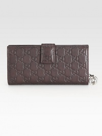 Continental wallet with interlocking G detail in guccissima leather with leather trim/interior and nickel hardware.Snap closure Seven card slots One bill compartment Zip-around coin pocket Fully lined 7½W X 4H X 1D Made in Italy