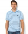 Top off any summer look with this striped polo shirt from Nautica.