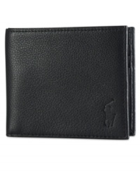 Crafted from soft pebbled leather, this sleek wallet features ample storage and Ralph Lauren's iconic embossed pony at the front for a refined finish.