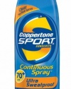 Coppertone Sport Continuous Spray SPF 70, 6-Ounce Bottle (Pack of 3)