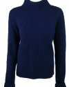 Vince Womens Mock Turtle Neck Wool Blend Sweater