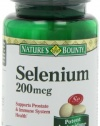 Nature's Bounty Selenium, 200mcg, 100 Tablets (Pack of 3)