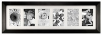 Malden International Designs Malden Berkeley Black Wood 6-Opening Matted Picture Frame