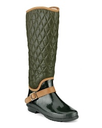 Rain, rain, come and stay. We want to splash around in these quilted rain boots, finished with a chic strap. By Sperry Top-Sider.