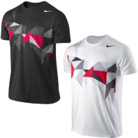 Nike Advantage Dri-Fit Mens Tennis Short Sleeve Crew Neck Shirt Top