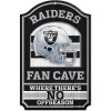NFL Oakland Raiders 11-by-17 inch Fan Cave No Offseason Wood Sign