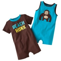 Carter's Boys Beach Hunk 2 Pack Romper Set (3 months)