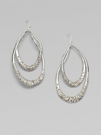 From the Miss Havisham Collection. Long open teardrops of gleaming rhodium plating sparkle with the radiance of Swarovski crystals.CrystalRhodium platingLength, about 2¾Sterling silver ear wireImported