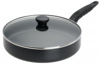 Mirro A7979784 Get A Grip Aluminum Nonstick 10-Inch Fry Pan / Saute Pan with Glass Lid Cover Cookware, Black