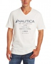 Nautica Men's Short Sleeve Pocket V Neck T-Shirt
