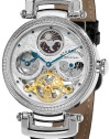 Stuhrling Original Men's 353A.33152 Special Reserve Emperor Magistrate Automatic Skeleton Dual Time Zone Silver Tone Watch